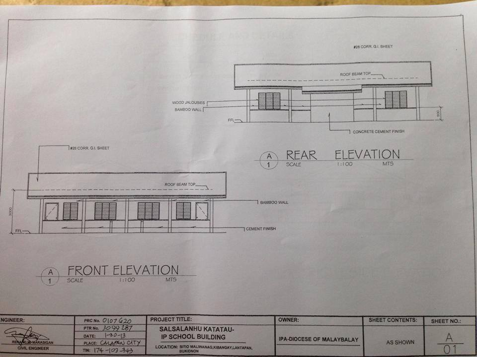 The floor plans for their future school